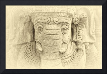 Buddha elephant of stone