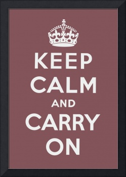 Pink Keep Calm And Carry On 3
