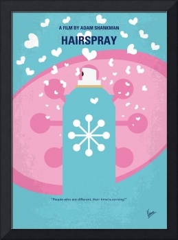 No856 My HAIRSPRAY minimal movie poster