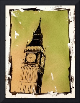 Watercolor painting of Big Ben- London, England