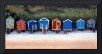 Beach Huts On Wells Beach
