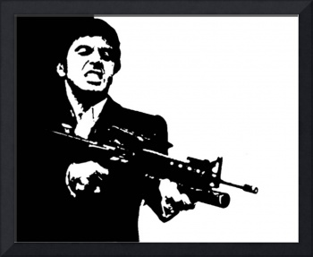 SCARFACE CULT CLASSIC POP ART MOVIE POSTER
