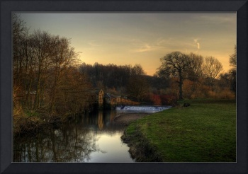 View from a bridge, Pollok Park, Glasgow.