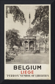 Belgium Vintage Travel Poster Ad Retro Prints
