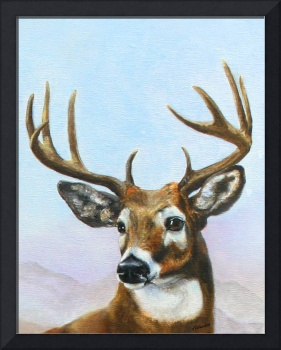 Regal Stag- white tailed deer by Violano