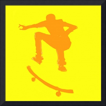 Skateboarder 2 . yellow orange (c)