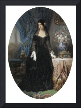 JEAN-CHARLES OLIVIER ; PORTRAIT OF MARIE DUPLESSIS