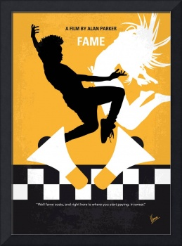 No619 My Fame minimal movie poster