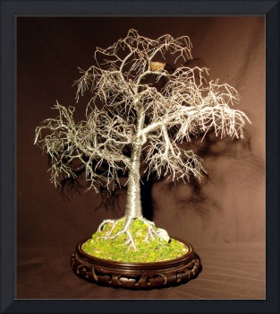 WINTER BIRD NEST -  Wire Tree Sculpture