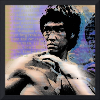 Bruce Lee and Quotes Square