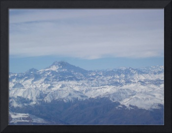 Aconcagua from the Air, South America Argentina.