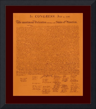 Declaration of Independence aged with medium borde