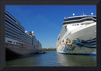 Two giant cruise ships