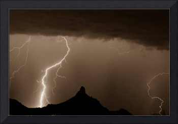 Lightning Storm at Pinnacle Peak