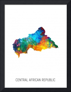 Central African Republic Watercolor Map