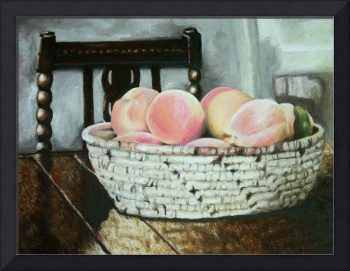Peach Basket on Table