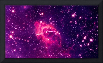 Carina Nebula Composite Visible & Infrared Enhance