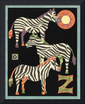 Safari Alphabet Zebras