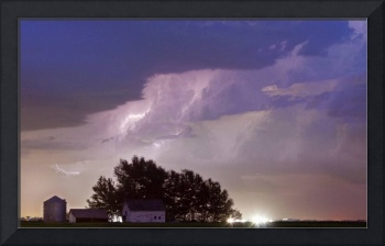 County Line Lightning Storm - Cropped
