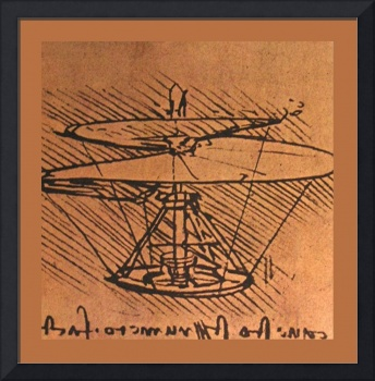 Design For A Helicopter 1500 AD Small Medium Borde