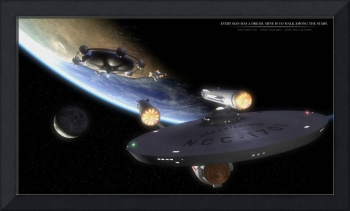USS Enterprise and a Federation-Class Starship Lea