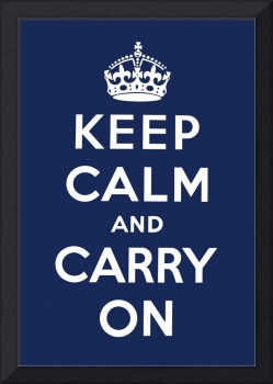 Blue Keep Calm And Carry On 9
