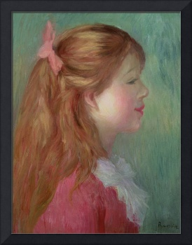 Young girl with Long hair in profile, 1890