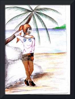 beachgirl illustration