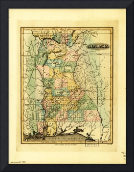 Map of Alabama (1826)