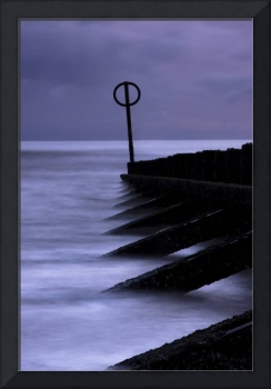 Wooden groynes of Aberdeen Scotland