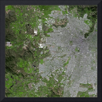 Santiago (Chile) : Satellite Image