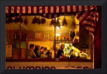 The Columbian Cafe at Night