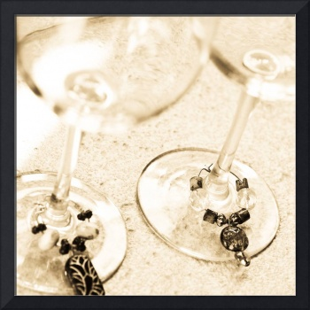 Wine Glasses with Wine Charms