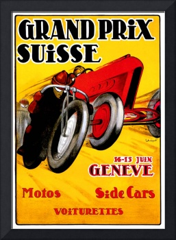 Swiss Grand Prix ~ Vintage Auto / Car Race Ad