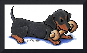 Dachshund with Bone