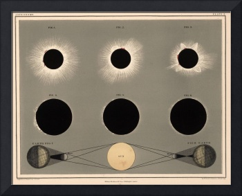 Vintage Solar Eclipse Diagram (1869)