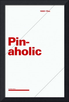 Pinaholic typographic poster - Gray and Red