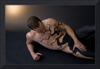 Body Painted Male in a reclining pose