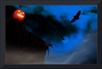 Pumpkin Head Scarecrow Horror Picture Halloween
