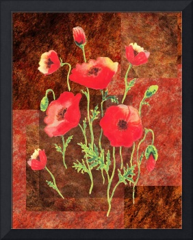 Red Poppies Decorative Painting