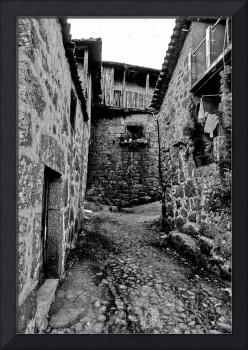 Alley of Byegone Portugal, 1978, in B&W