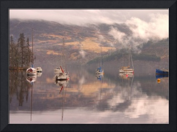 Morning reflections of Loch Ness