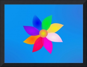 Simple Flower Art Blue