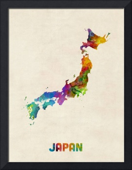Japan Watercolor Map