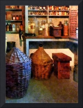 Pharmacy - Medicine Bottles and Baskets