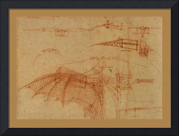 Design For A Flying Machine 1 1500 AD  Small Borde