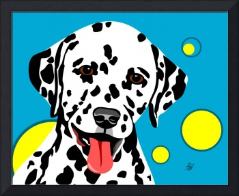 Fun Dalmatian Dog Art