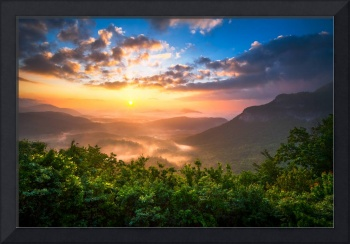 Highlands Sunrise - Whitesides Mountain Landscape