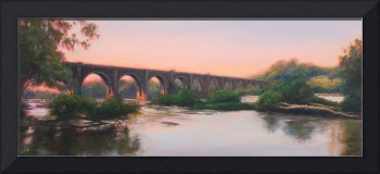 Train Bridge Over James by Amy Donahue