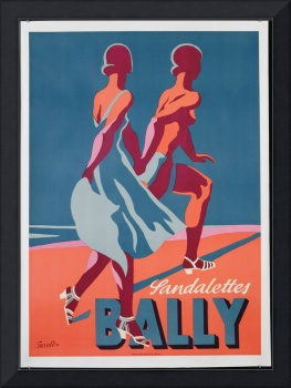 Advertisement for Bally sandals, 1935